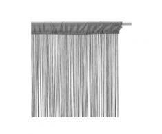 Tenda a fili (90 x H200 cm) Tinta unita Grigio