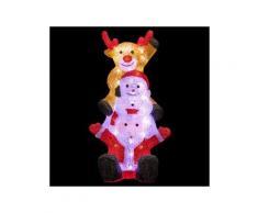 Babbo Natale luminoso et ses compagnons Bianco freddo 60 LED