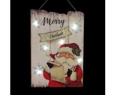 Pannello Babbo Natale luminosi Bianco caldo 6 LED
