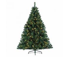 Albero di Natale artificiale pre-illuminato Imperial Alt. 180 cm Verde abete
