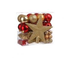Kit di decorazioni di Natale Aspen Rosso/ Oro