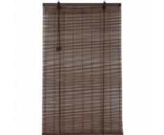 Tenda a rullo in legno (90 x H90 cm) Bambù Cioccolato