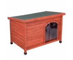 Cuccia per cani Woody con tetto piano - L 104 x P 66 x H 70 cm