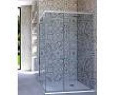 Box Doccia Angolare Porta Scorrevole 100x120 Cm Trasparente
