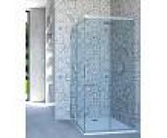 Box Doccia Angolare Porta Scorrevole 114x100 Cm Trasparente