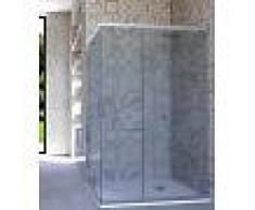Box Doccia Angolare Porta Scorrevole 90x95 Cm Opaco