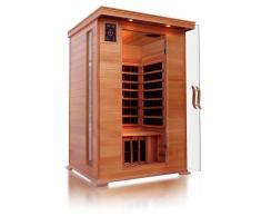 Sauna ad infrarossi a pannelli di carbonio con aromaterapia, per 2 persone