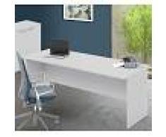 Arredo Interno Scrivania per ufficio 200x80 cm in legno Bianco frassinato Bianco