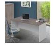 Arredo Interno Scrivania per ufficio 160x80 cm in legno Larice Grigio Larice