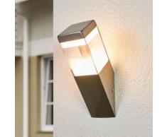Applique LED da esterni Baily a fiaccola, acciaio