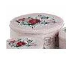 La maison de Rose Scatola Rotonda Metallo Rose D 20 H 9 Cm