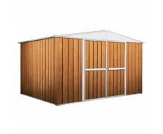 Casetta Box Da Giardino In Lamiera Legno Per Deposito Attrezzi 360x260x212cm Enaudi