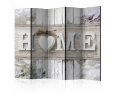 Paravento 5 Pannelli - Inscription Home 225x172cm Erroi