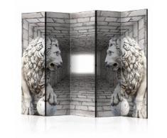 Paravento 5 Pannelli - Stone Lions Ii 225x172cm Erroi