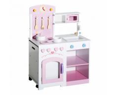 Cucina Giocattolo Per Bambini In Legno Con Sedia E Accessori 60x35x87 Cm Benzoni