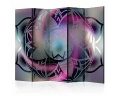 Paravento 5 Pannelli - Flowery Mandala Ii 225x172cm Erroi