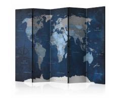 Paravento 5 Pannelli - Dark Blue World 225x172cm Erroi