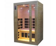 Sauna Finlandese Ad Infrarossi 2 Posti 120x97 Cm In Hemlock Canadese H188 Vorich Gold Eco