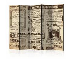 Paravento 5 Pannelli - Vintage Magazines Ii 225x172cm Erroi