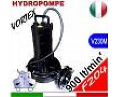 HYDROPOMPE F204 - Pompa sommersa con girante vortex per fognature e acque sporche