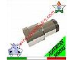 Adattatore inferiore per pompa sommersa predisposto per inserzione del tubo uPVC con filettatura brevettata e sommersa con filettatura a gas