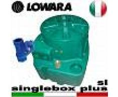 Lowara - Stazione di sollevamento SINGLEBOX PLUS - SL - VNR per acque nere completa di kit slitta e valvola antiriflusso - predisposta per una pompa sommersa