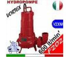 HYDROPOMPE F202 - Pompa sommersa con girante vortex per fognature e acque sporche