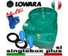 Lowara - Stazione di sollevamento SINGLEBOX PLUS - MULTI - SL - VNR per acque nere completa di kit slitta - valvola antiriflusso - galleggianti speciali - predisposta per una pompa sommersa senza galleggiante