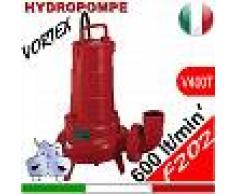 HYDROPOMPE F202 - Pompa sommersa trifase con girante vortex per fognature e acque sporche