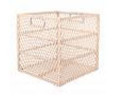 Maisons du Monde Cesto quadrato in bambù e rattan