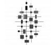 Maisons du Monde Decorazione da parete specchi fumé neri, 86x140 cm