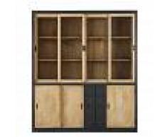 Maisons du Monde Piattaia a 7 ante in legno massello di mango e vetro temperato Cezanne