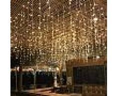 Silamp Ghirlanda a tenda 16 pendenti 320 led IP44 luce Calda 3 metri GHI-320LED-YE