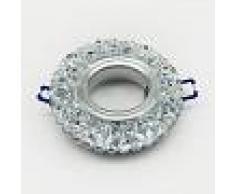 Silamp Ghiera porta faretto GU10 per cartongesso in vetro con dettagli diamantati