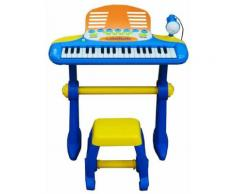 Pianola 37 Tasti Con Sgabello Mp3 E Registratore Kids Joy Gioca E Suona Azzurra