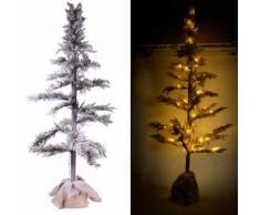 Albero Di Natale Luminoso Con Led In Pvc H136cm Adami Juta Verde Innevato