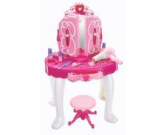 Specchiera Giocattolo Per Bambini Con Sgabello Miller Rosa
