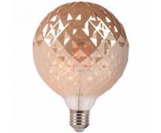 Lampadina Vintage LED filamento E27 6W sfera G125 ambrata L77-6W-DIMM