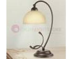 Lam Export Asiago Lampada Da Comodino Rustica In Ferro Battuto