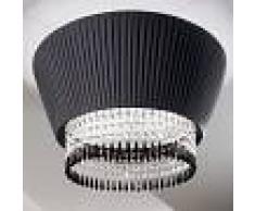 Antealuce Paolina Plafoniera Design Paralume Plisse E Cristalli D.55 Cm.