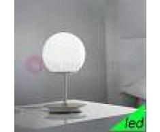 Braga Illuminazione Sfera Lampada Da Tavolo E Comodino A Led Design Vetro Sfera Bianca