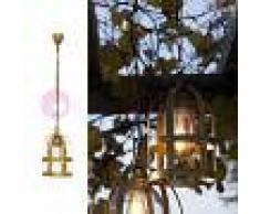 Febo Light Titty Out Lampadario Sospensione A Gabbia D.17 Lampada Rustica Da Esterno In Ottone Anticato