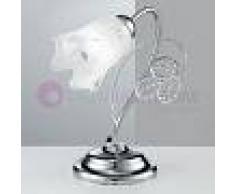 Due P Illuminazione Ilenia Lampada Da Tavolo Lumetto Cromo Moderno