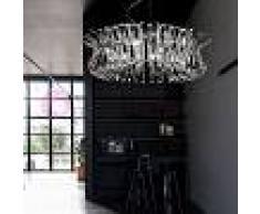 Metal Lux Light snc Wave Sospensione Lampadario Cromo D80 Vetri Cristallo Design