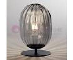 Fabas Luce Infinity Lampada Da Tavolo E Comodino In Vetro Soffiato Fumè