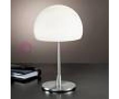 Fabas Luce Gaia Big Lampada Da Comodino Moderna H. 36 In Vetro Soffiato Bianco