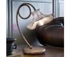 Ferroluce Classic Lecco Lampada Da Comodino Abat-Jour Classico In Ceramica Bianca