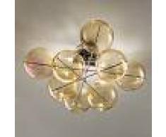 Metal Lux Light snc Atom Plafoniera Moderna 2 Luci Cromo Design Luci A Sfera In Cristallo