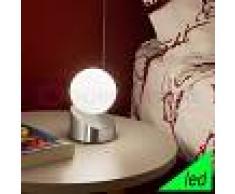 Fabas Luce Gravity Lampada Da Comodino A Led Moderno In Vetro Soffiato Bianco