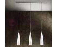 Lam Export Iris Lampada A Sospensione 3 Luci In Vetro Di Murano Design Moderno